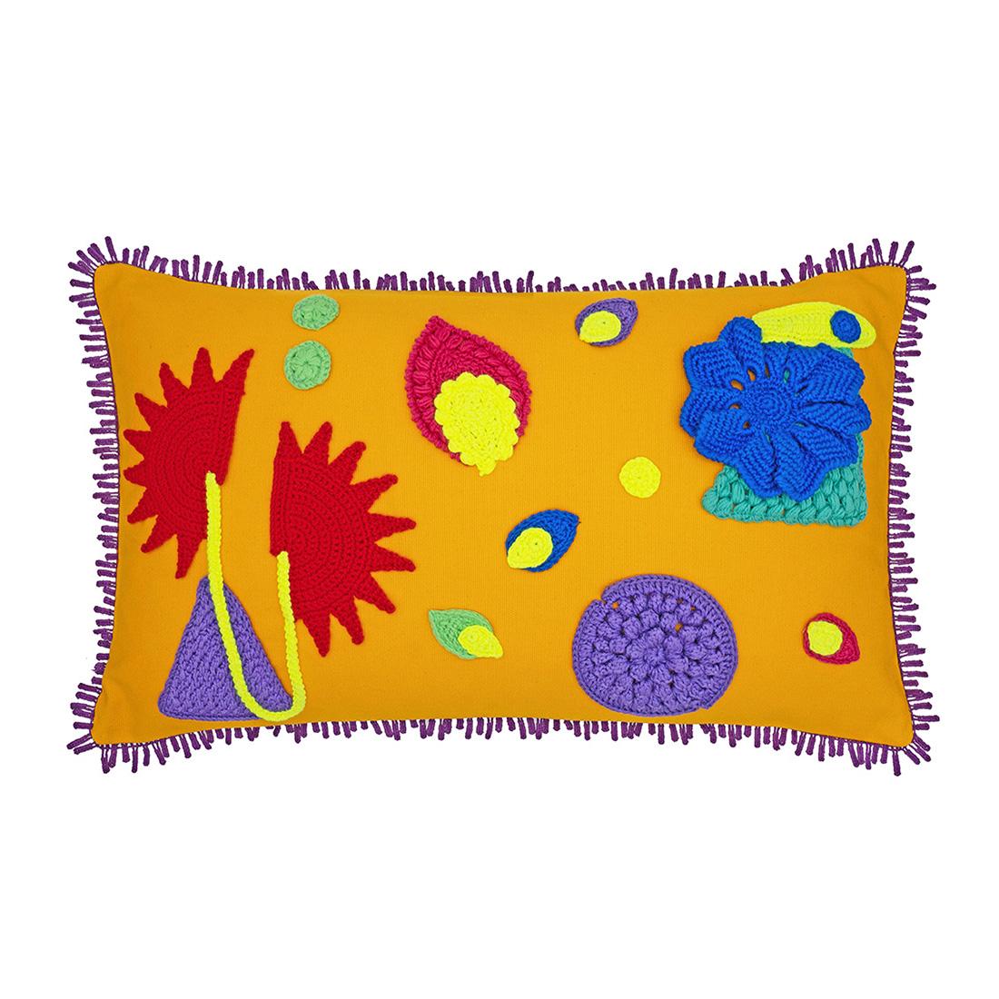 Amazonica Cushion, Mustard